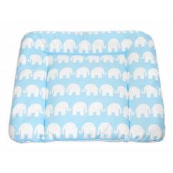 Mamo Tato Přebalovací podložka 70x75cm, Sloni bílí v modré