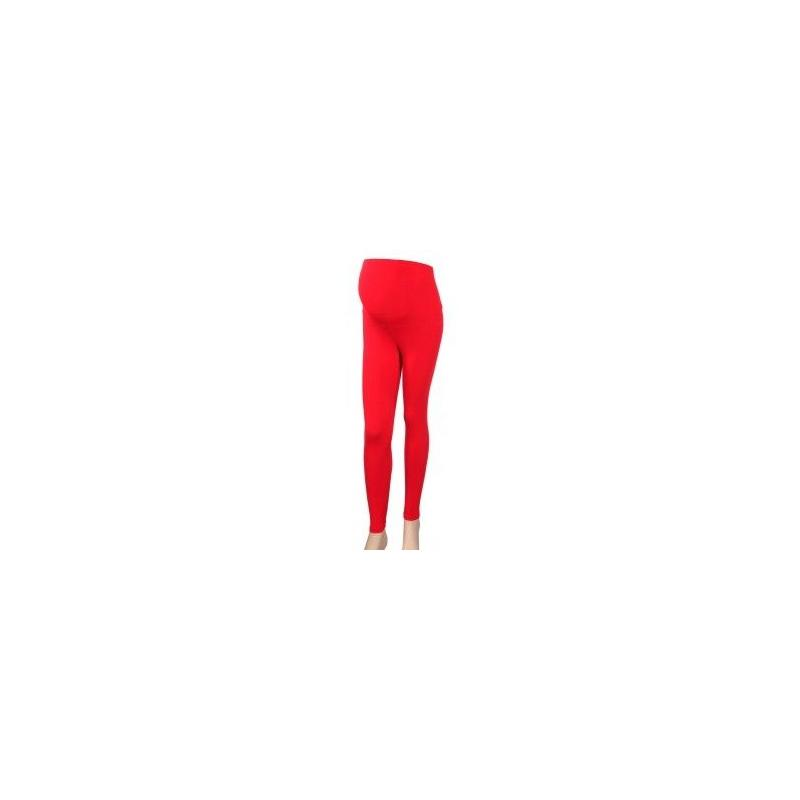 Těhotenské legíny - červená